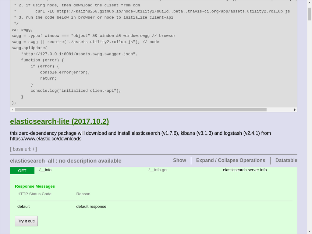 elasticsearch-lite - npm