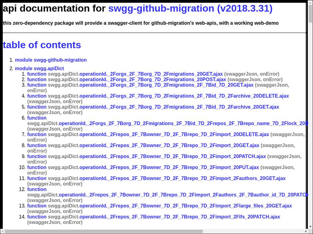swgg-github-migrations - npm